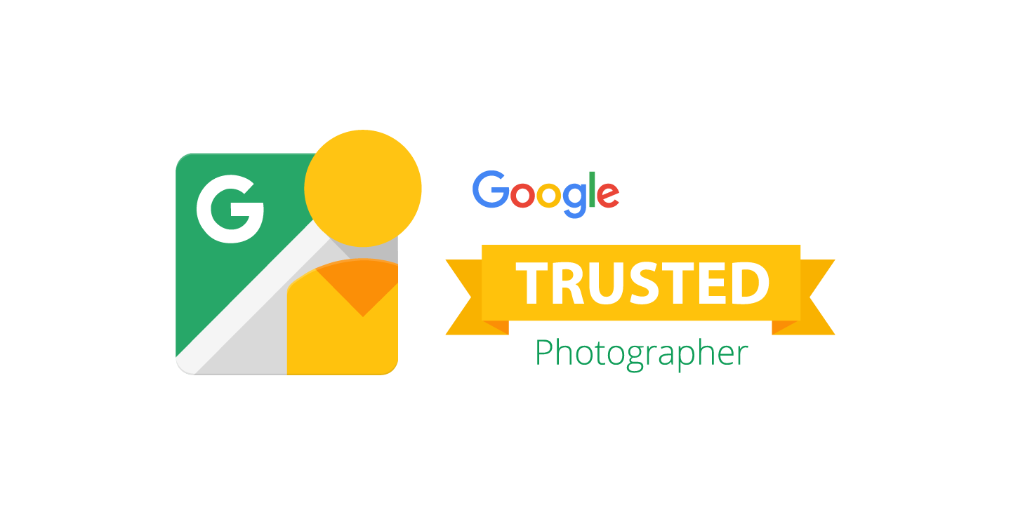 Recognized in Google Street View products as a trusted professional Photographer